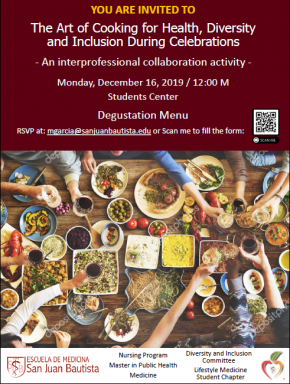 ART OF COOKING FOR HEALTH, DIVERSITY AND INCLUSION